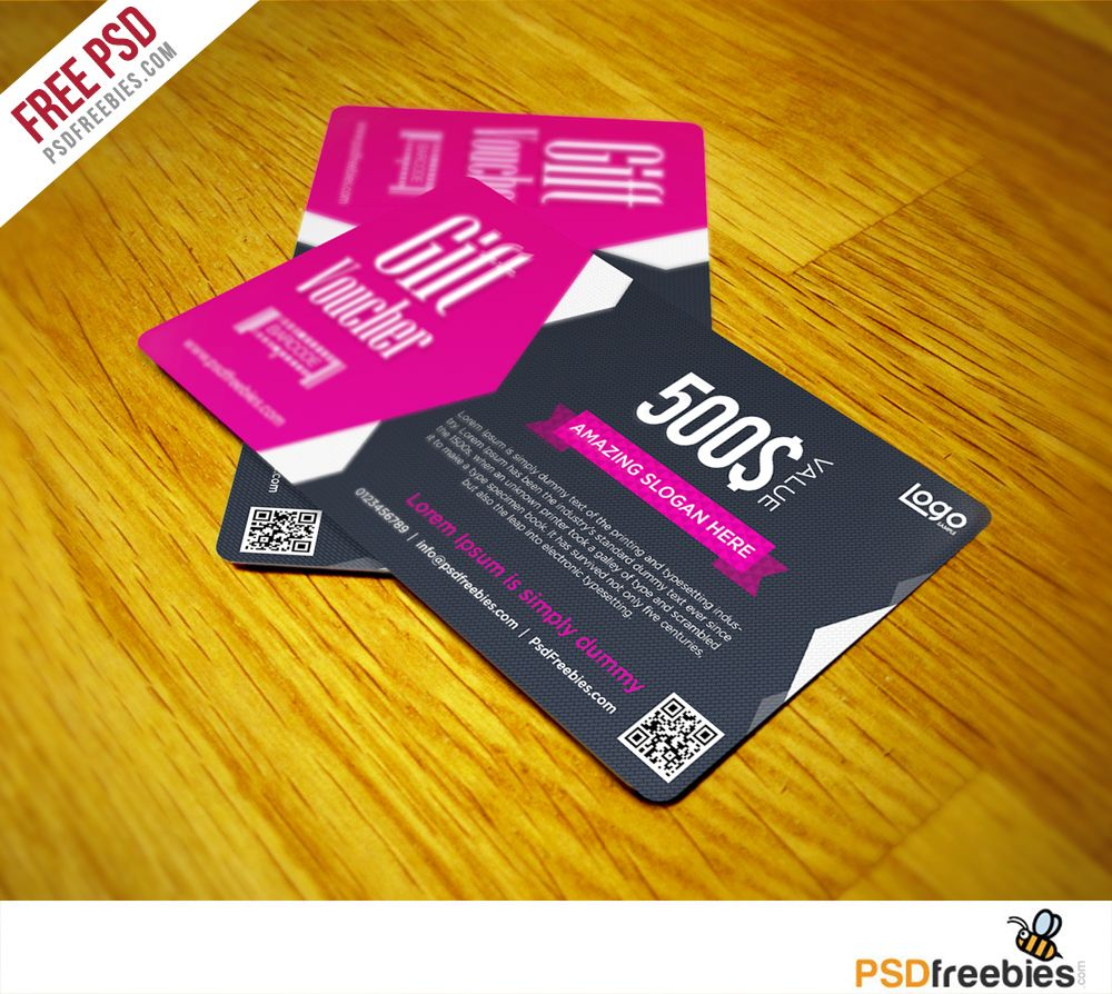 Gift Voucher Coupon Free PSD Template | Psd templates, Template and ...