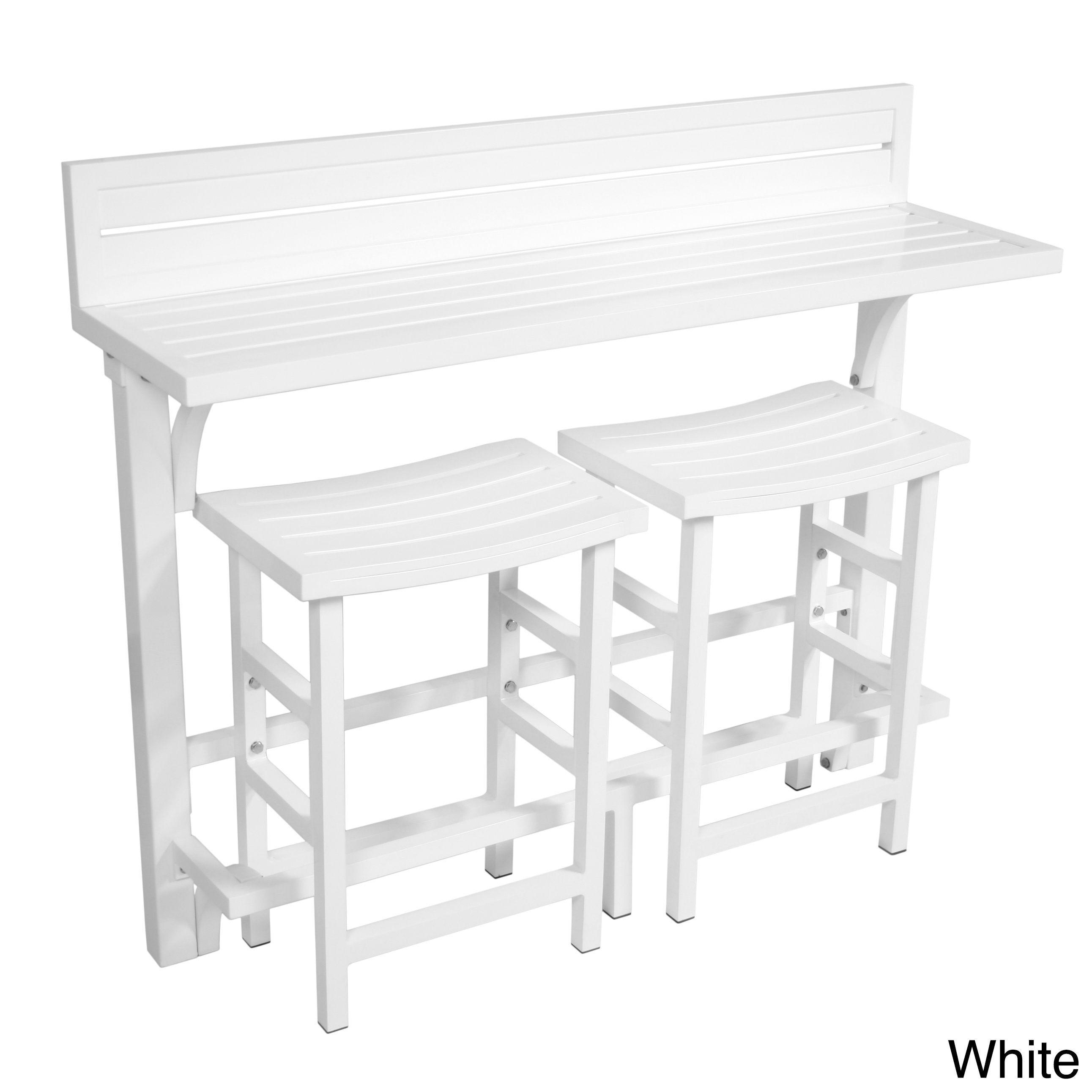 MIYU Furniture 3 Piece Balcony Bar | Overstock.com Shopping   The Best Deals