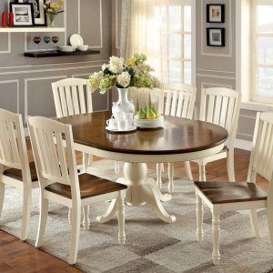 harrisburg cottage style two tone wood oval dining table - Oval Dining Room Rugs
