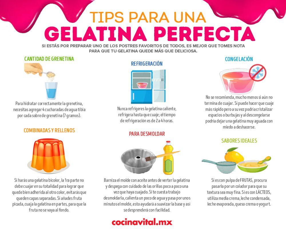 7 Tips Para Lograr Una Gelatina Perfecta D Gari Postres De Frutas Recetas Recetas De Postres Sin Horno Receta De Postres Caseros