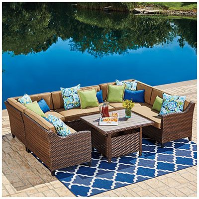 Wilson & Fisher Sonoma Modular Seating Set at Big Lots Just bought this for our deck Review - Latest big lots coffee table In 2019