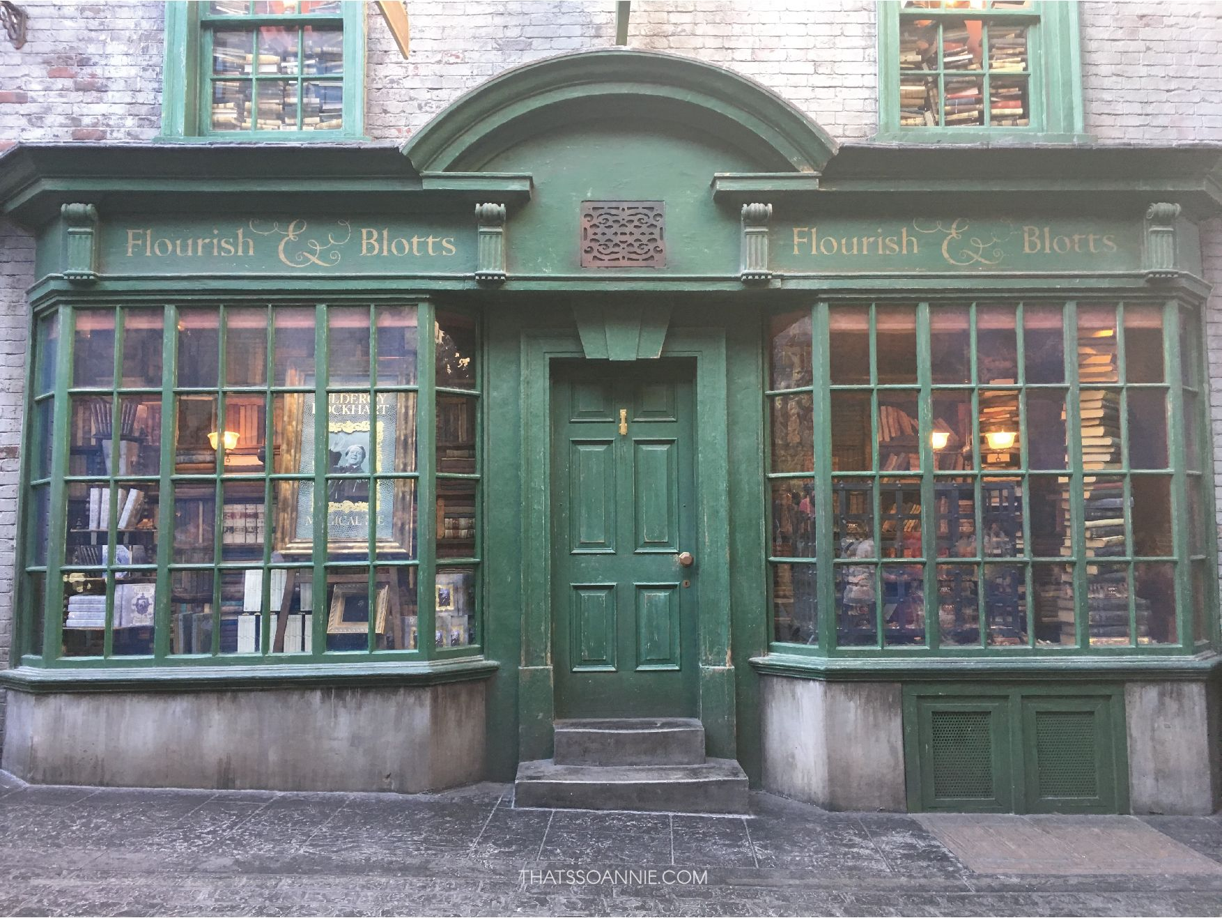 Image result for diagon alley flourish and blotts images
