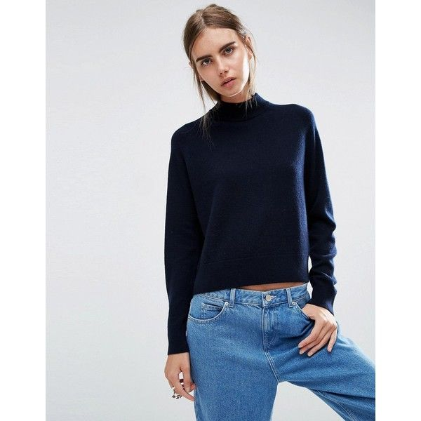 ASOS WHITE 100% Cashmere Turtle Neck Jumper (£110) ❤ liked on ...