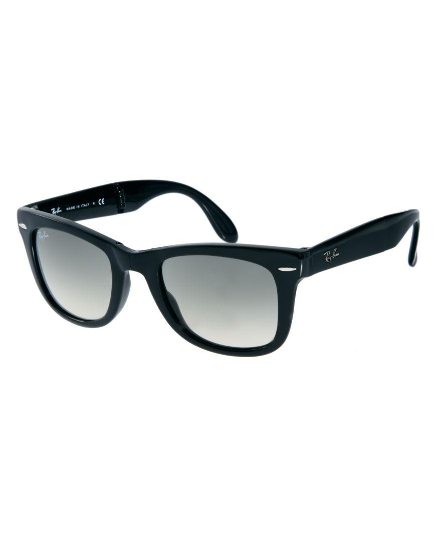 4c24fc811f1e1 Ray-Ban Wayfarer Foldable Sunglasses Cosas Para Comprar, Moda, Compras,  Gafas De
