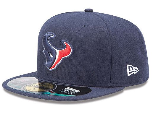 New Era Houston Texans On-Field Performance Fitted Hat - Navy Blue