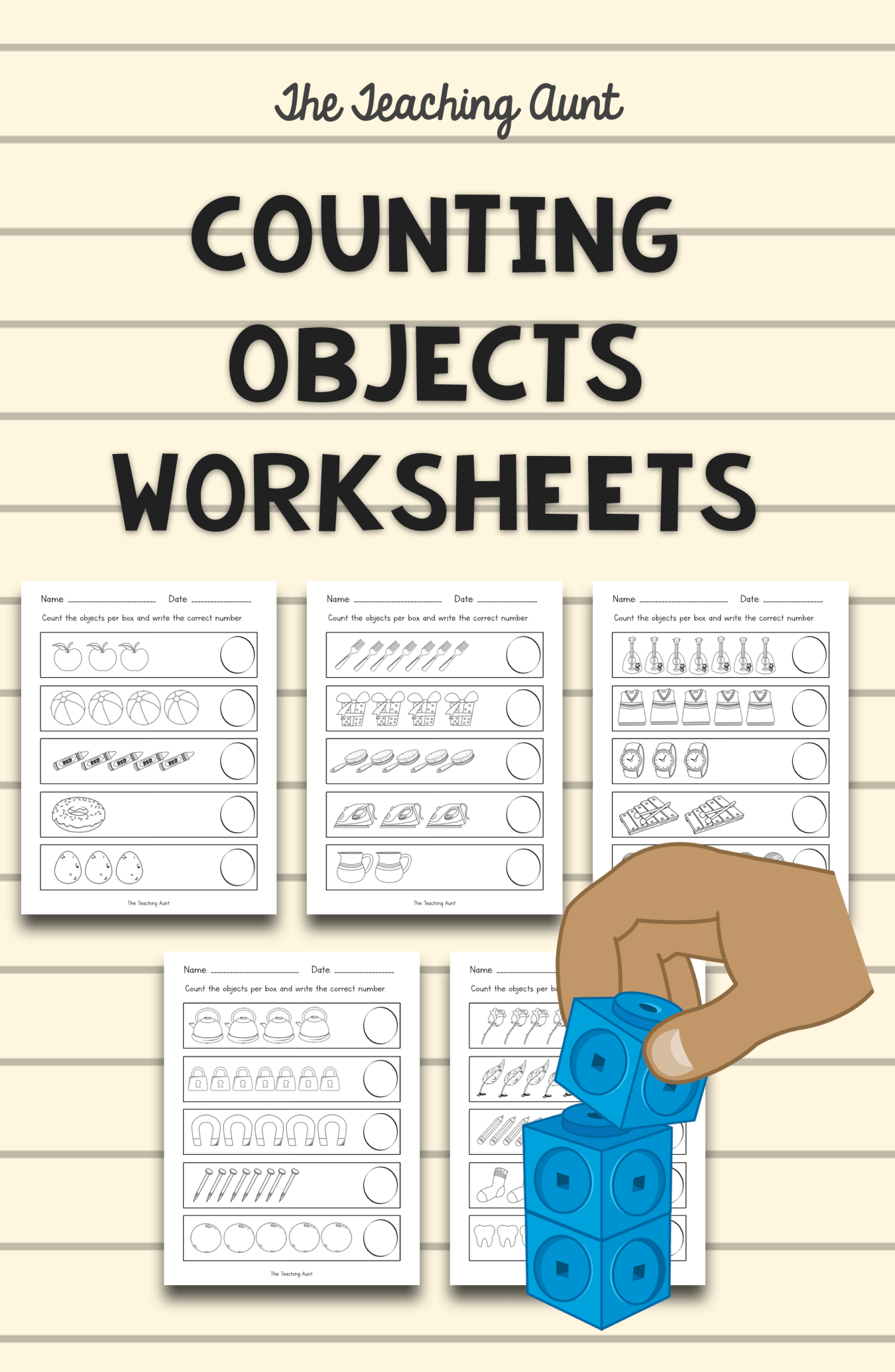 Counting Objects Worksheets Con Imagenes