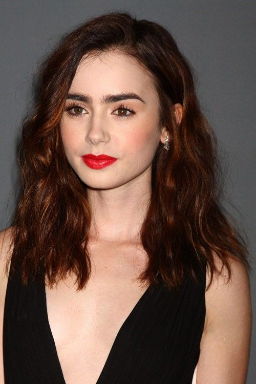 Lily Collins Hair Shades Of Red Hair Red Hair Color Lily Collins Hair