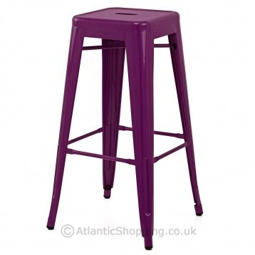 Replica Tolix Stool Purple Atlantic Shopping Bar Stools Metal Bar Stools Tolix Stool
