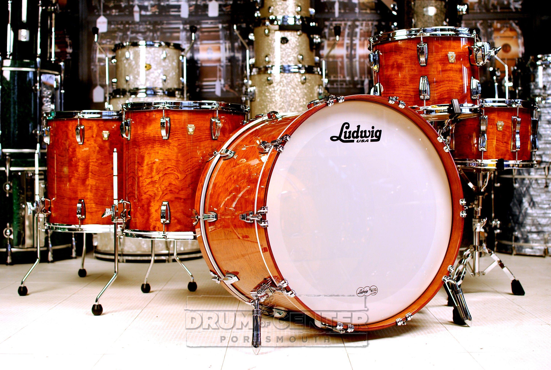 Ludwig Classic Maple 5pc Drum Set Bubinga W Double Tom