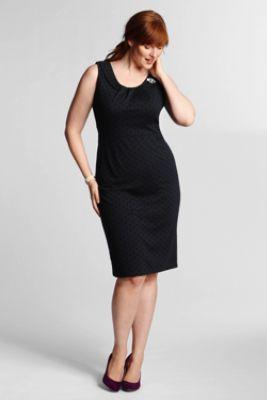 Women\'s Plus Size Sleeveless Ponté Sheath Dress from Lands ...