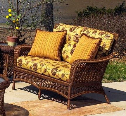 Outdoor Wicker Loveseat Savannah #wicker #sale #closeout  Http://www.wickerparadise.com/closeouts.html
