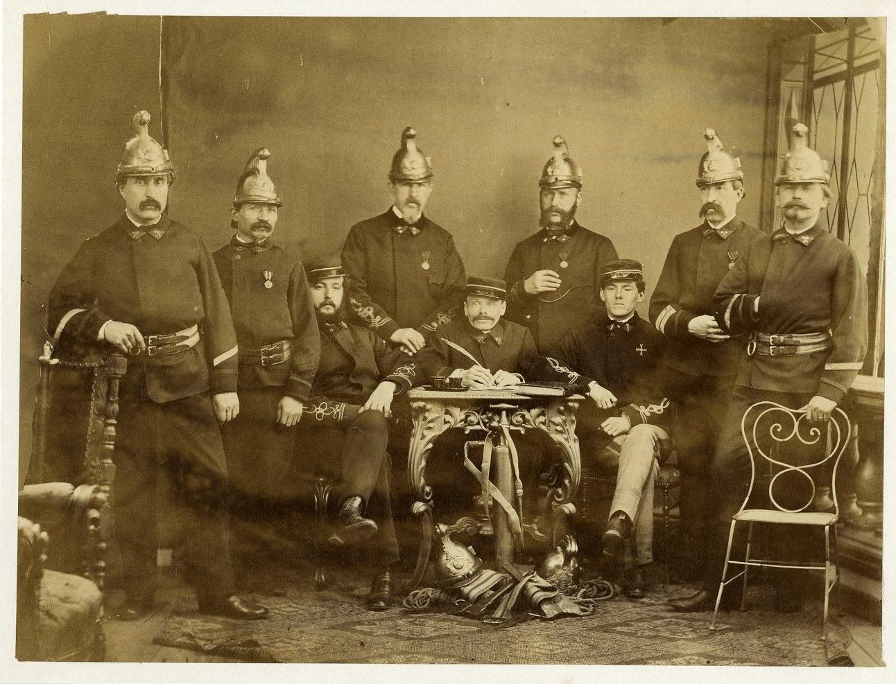 Pompiers sous le Second Empire    #Personnalités_du_XIXe_siècle #Divers_XIXe
