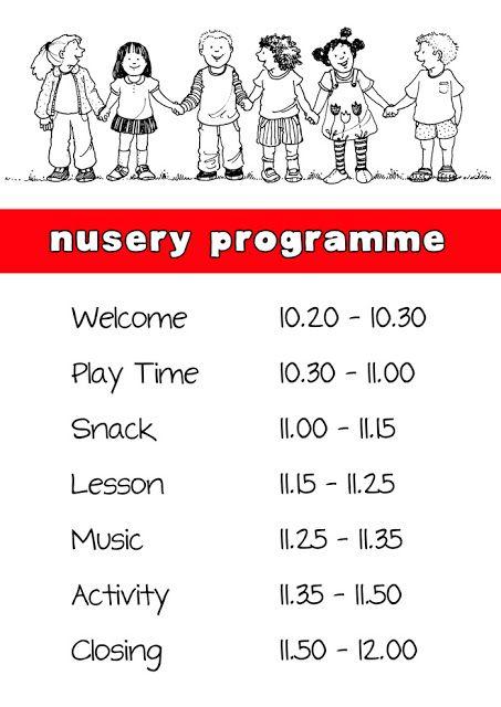 Nursery Schedule Church Nursery Decor Toddler Sunday