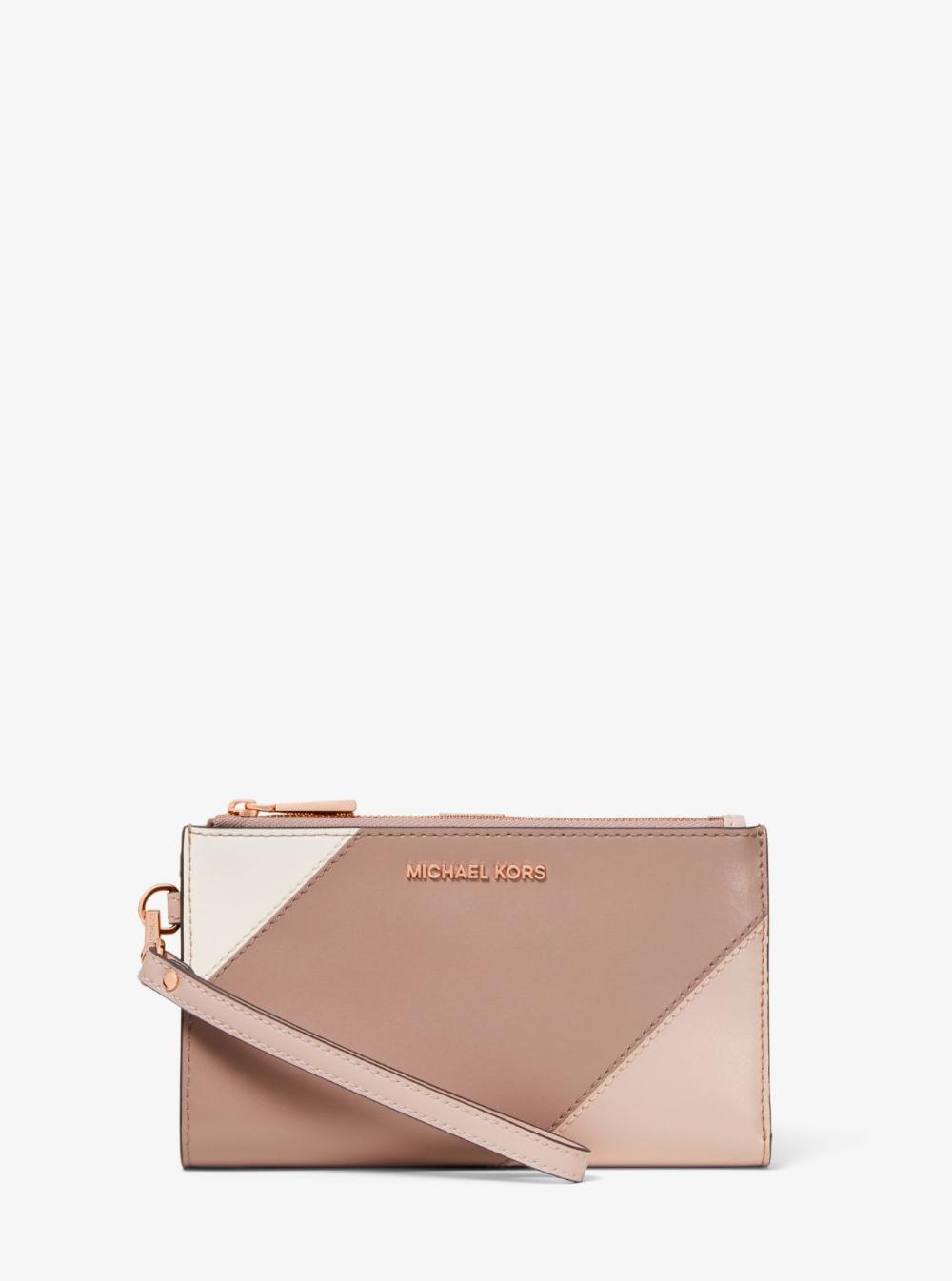 Adele Tri Color Leather Smartphone Wallet Michael Kors Smartphone Wallet Michael Kors Wallet Leather