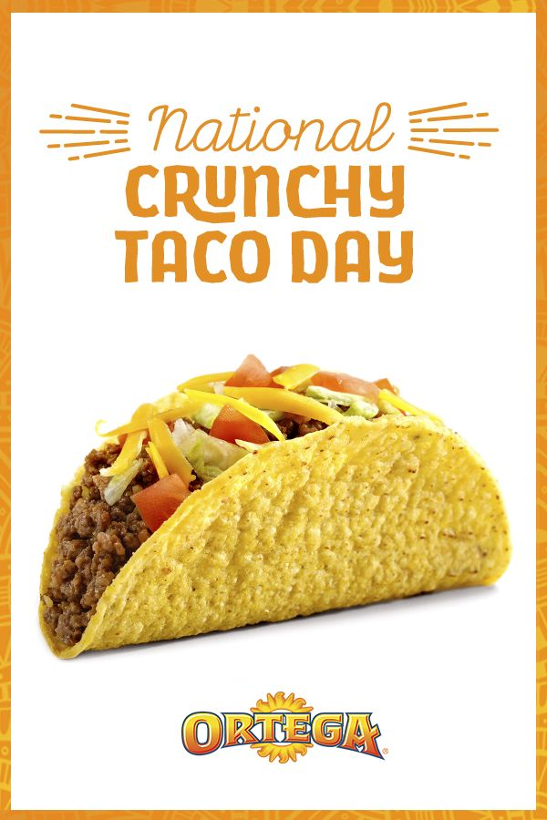 Looking For Ideas On What To Make For Dinner Tonight Your Search Is Over It S National Crunchy Taco Day How Psyched Would Y Mexican Food Recipes Tacos Meals