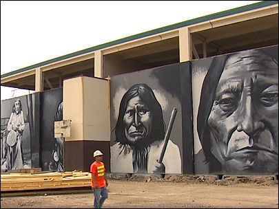 School's famed Native American murals on the move