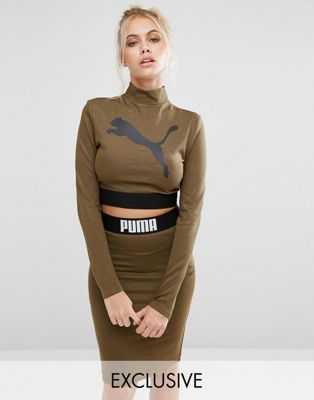 7cf9626a9d2 Puma Exclusive to ASOS Long Sleeve Crop Top Co Ord | Stylin ...