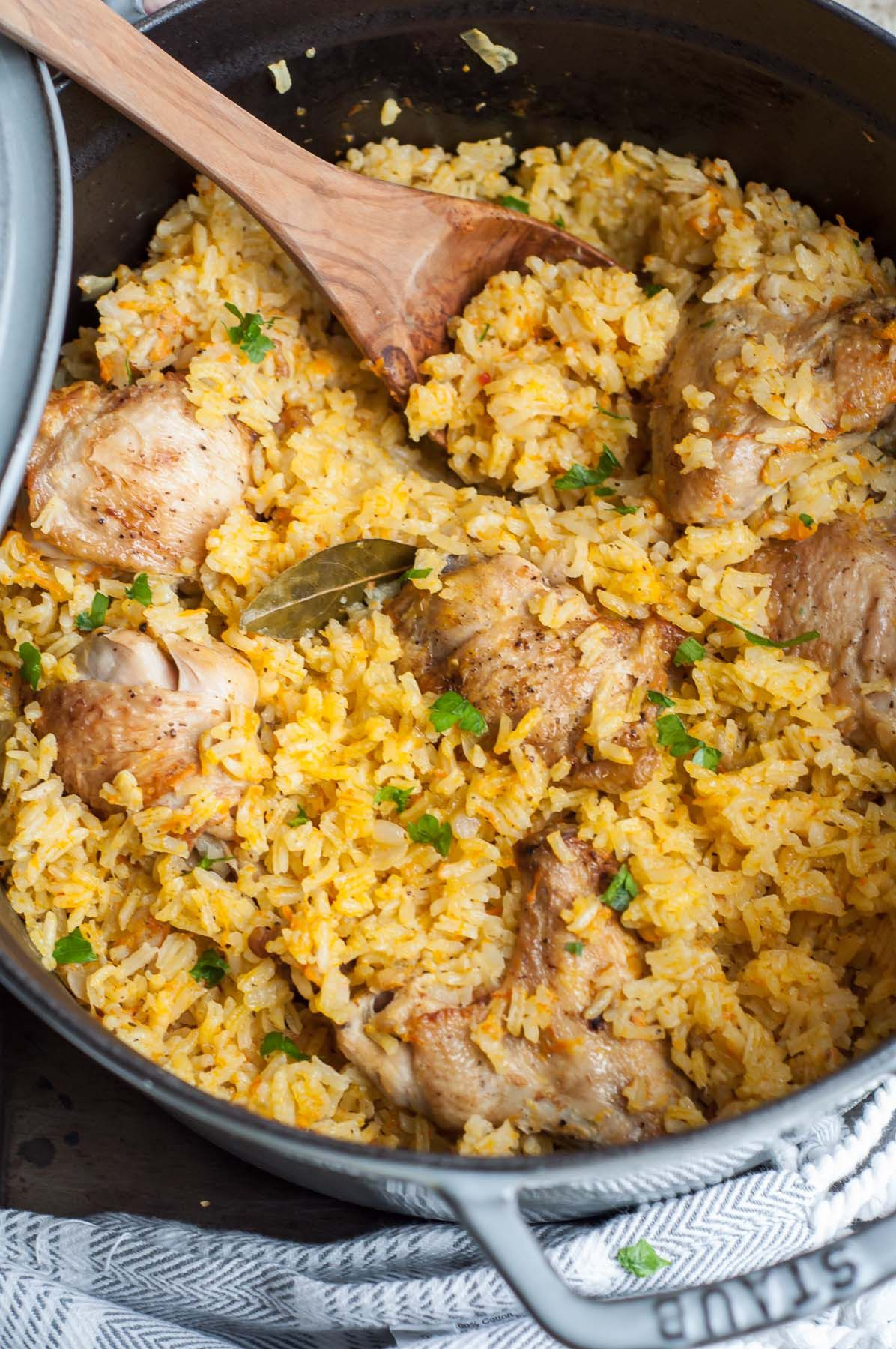 One Pot Chicken And Rice Pilaf Gastrosenses Recipe Chicken Rice Recipes Rice Pilaf Southern Baked Chicken Recipe