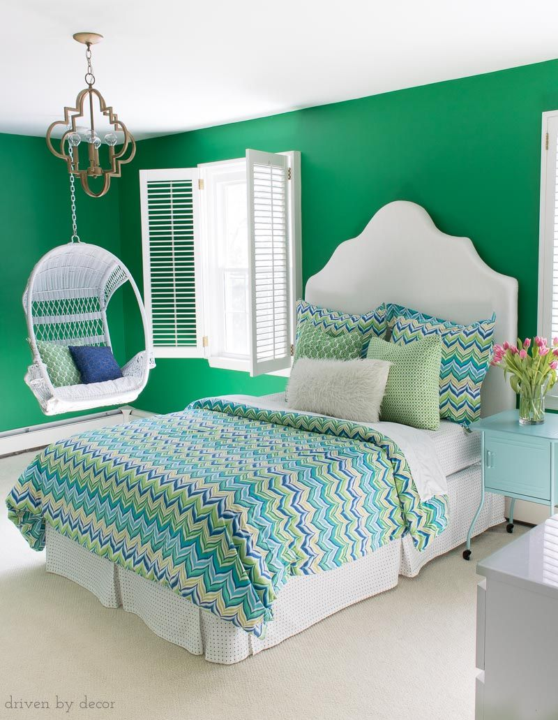 My Home's Paint Colors (Room by Room!) | Green bedroom ...