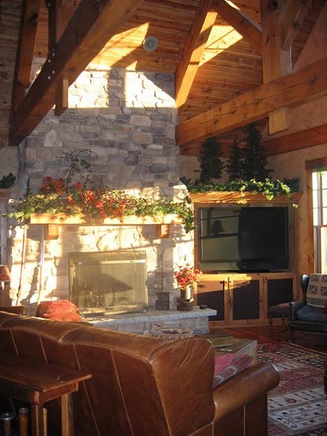 Open Concept Lodge Living Room   Living Room Designs   Decorating Ideas    HGTV Rate My