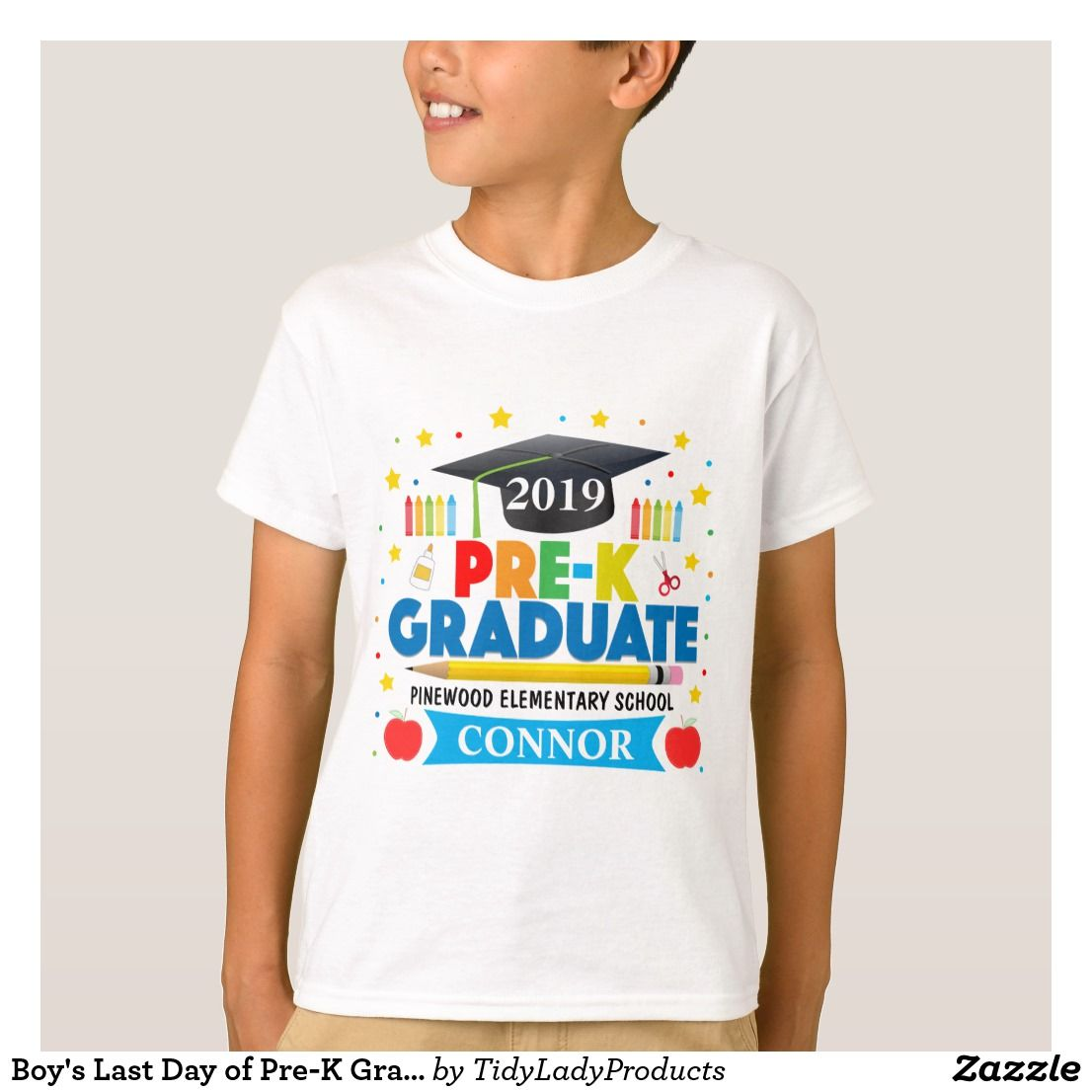 Boy S Last Day Of Pre K Graduate T Shirt