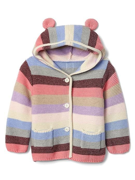 1ef03b7419ce Gap Baby Stripe Bear Garter Sweater Pink Multi Stripe