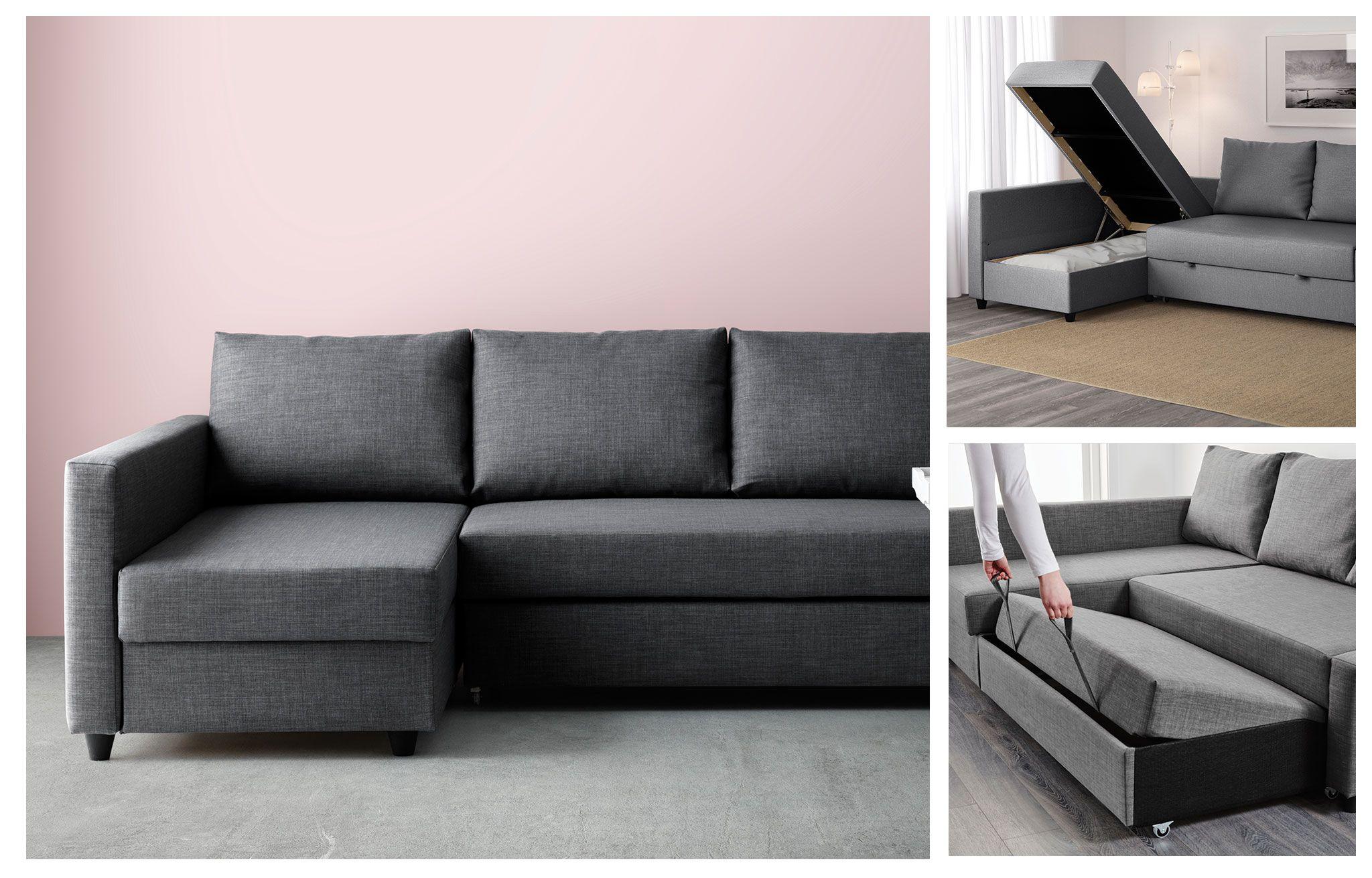 Remarkable Friheten Corner Sofa Bed With Storage Skiftebo Dark Grey Onthecornerstone Fun Painted Chair Ideas Images Onthecornerstoneorg