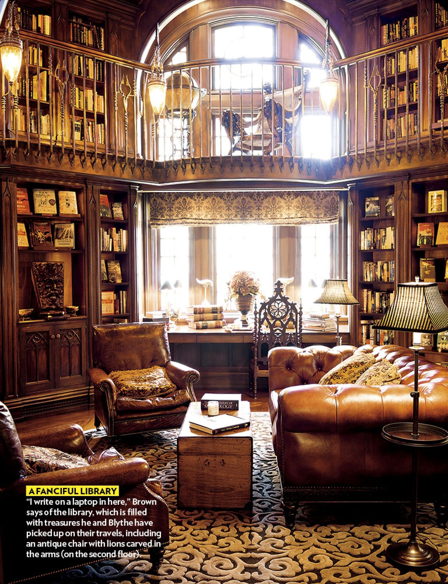 Cozy Home Library Library. Wow