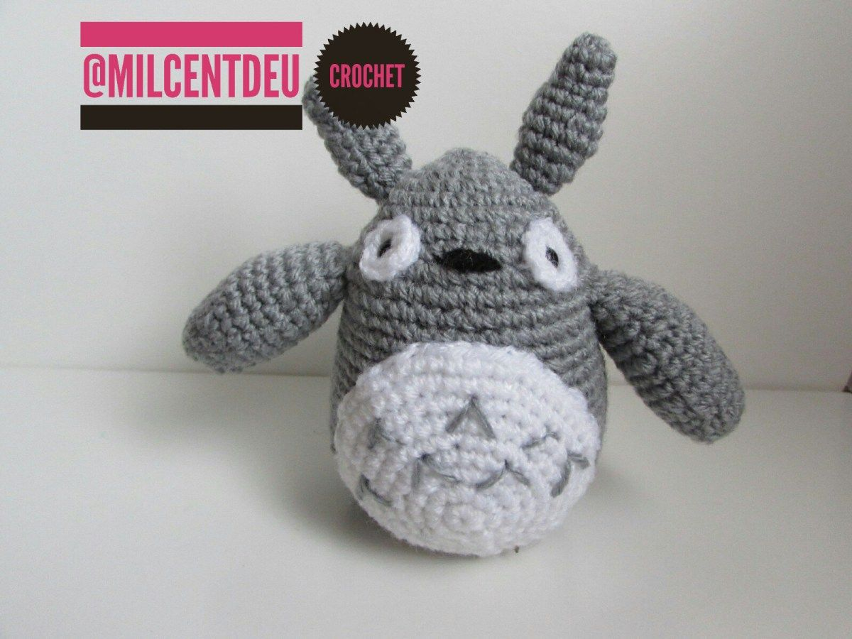 Amigurumi Totoro : Amigurumi totoro milcentdeu handmade crochet montserrat