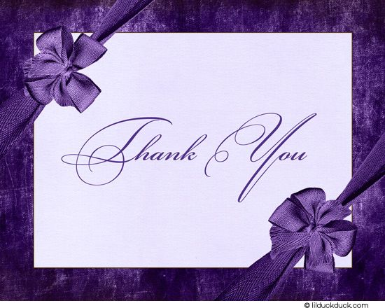 Purple Thank You All Card Front