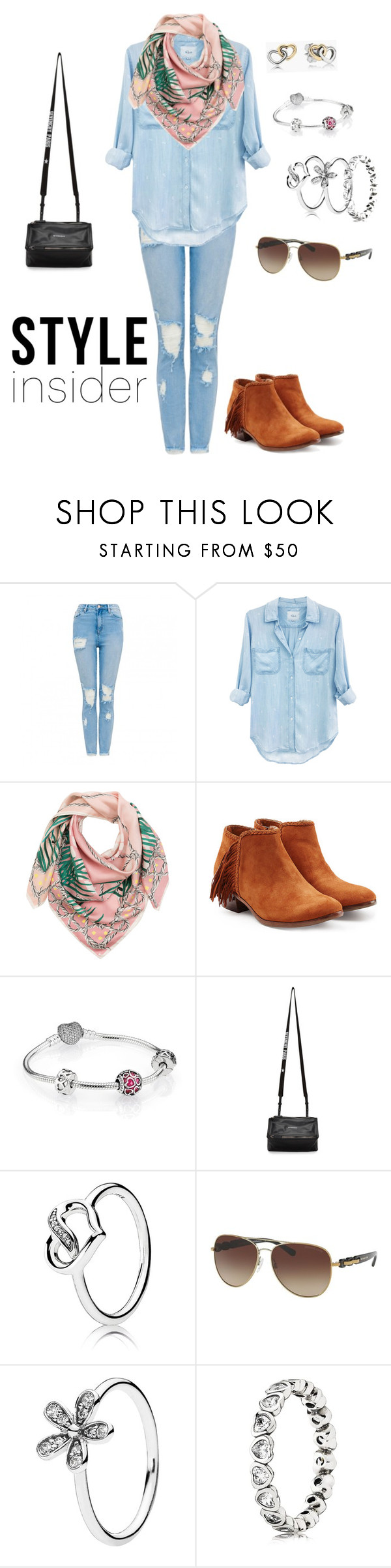 """Style insider"" by gamosefashion on Polyvore featuring Rails, Sam Edelman, Pandora, Givenchy and Michael Kors"