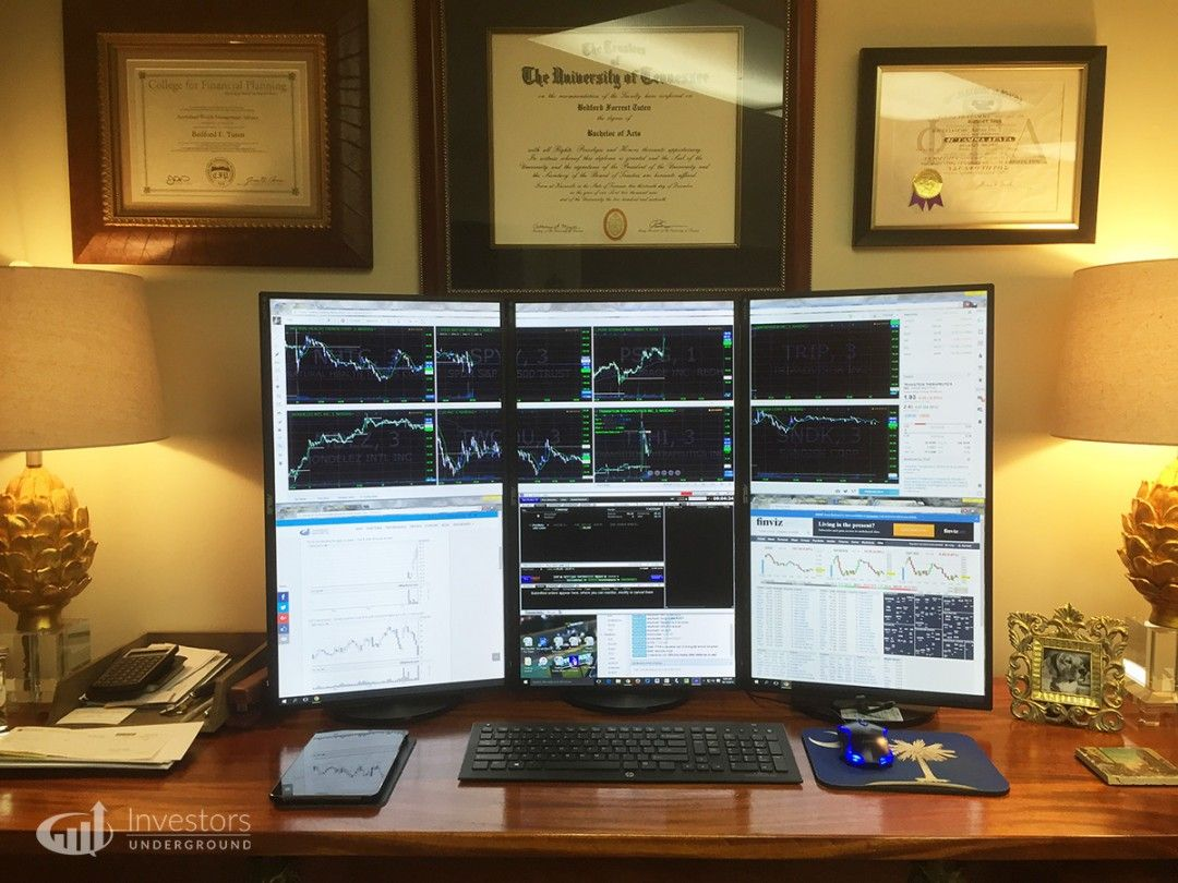 Trading Desks And Monitors From 24 Top Traders Trading Desk