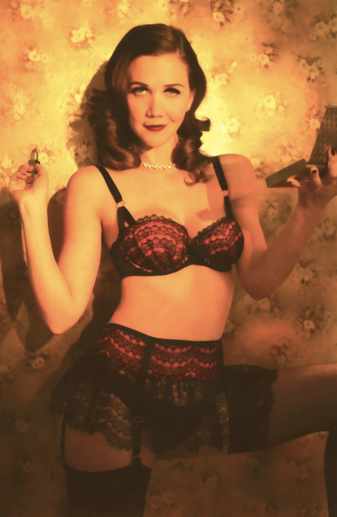 Maggie Gyllenhaal for Agent Provocateur by Alice Hawkins  e5a0a42ae