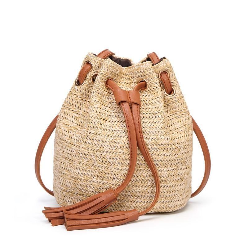 46b5eb04c8 New INS Summer Women Beach Bag Bali Round Rattan Straw Bag Woven Beach  Handbags Lady Vintage