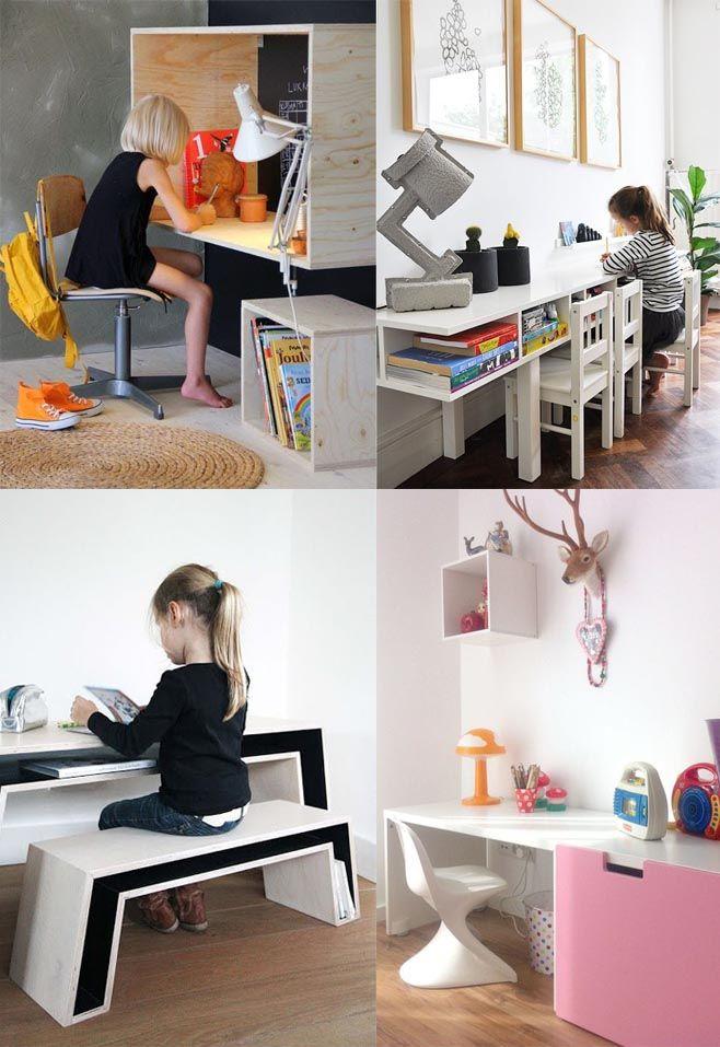 Mesas de estudio para nios Pinterest Mesa de estudio para nios