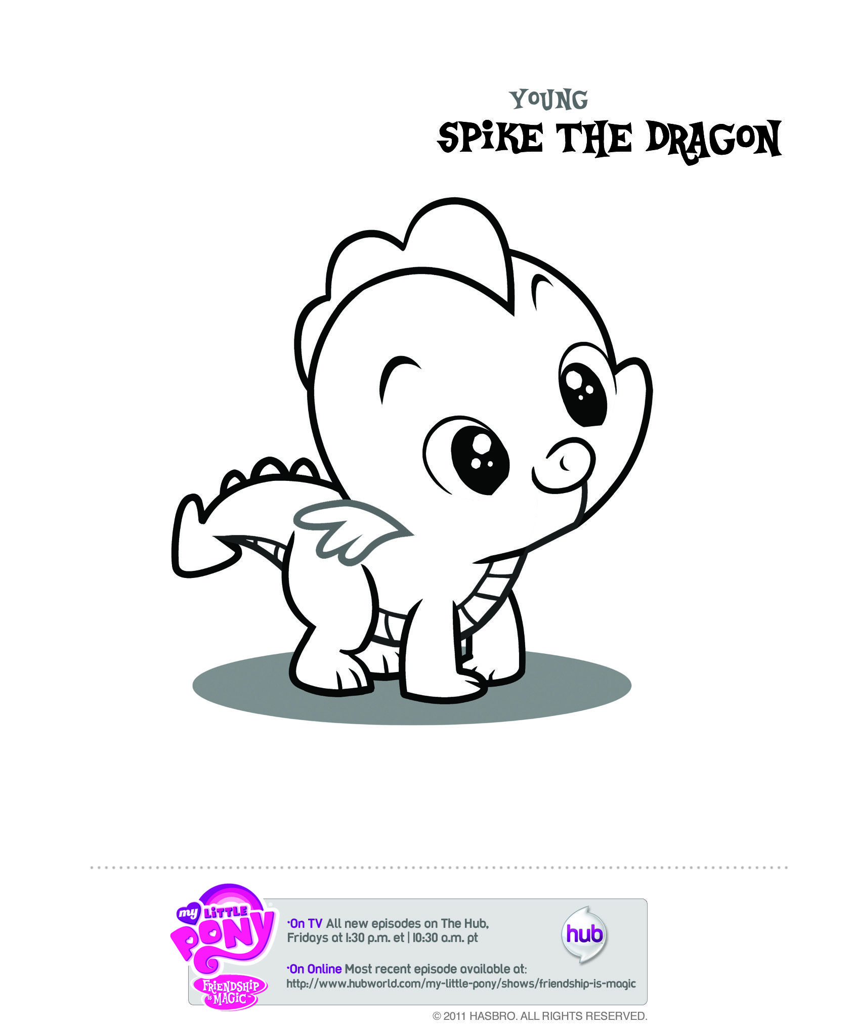MLP Young Spike Coloring Page