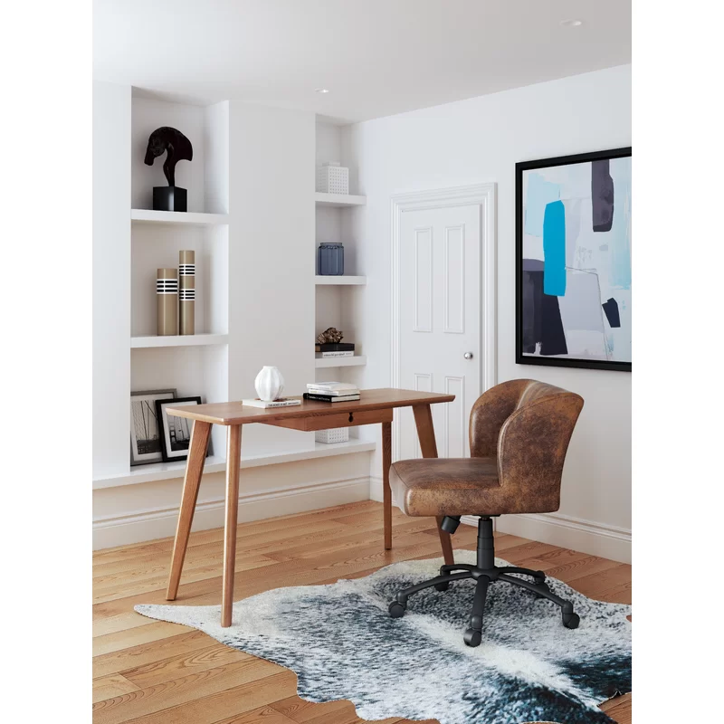Glendora Writing Desk Zm Home Walnut Desks Furniture