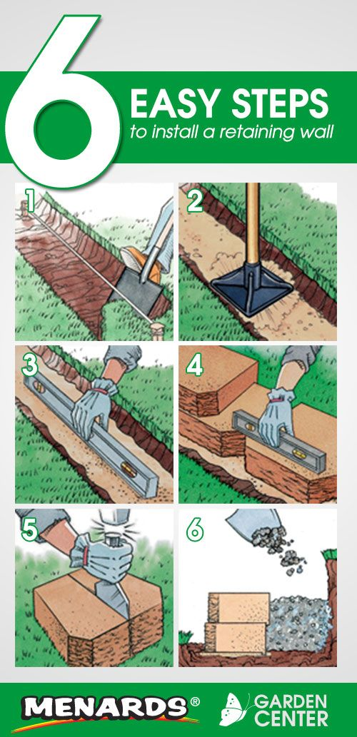 6 Easy Steps to Install a Retaining Wall from the Menards