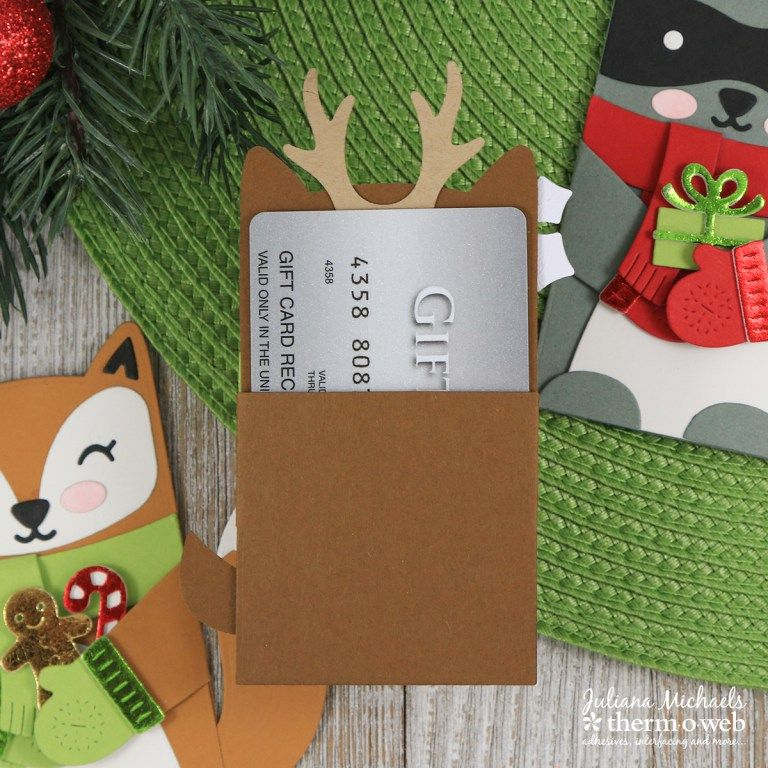 Backside Woodland Critters Huggers Holiday Gift Card Holder By