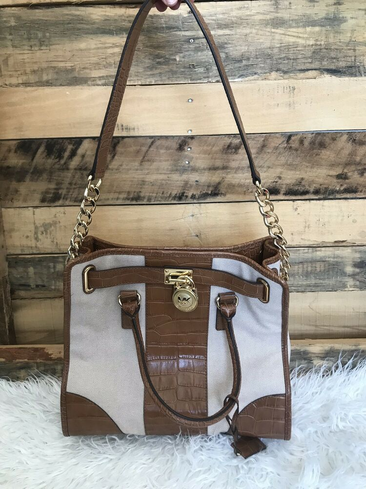 619efd0930d9 Vintage Michael Kors Tote Purse Cream w Brown Gold Hardware AUTHENTIC  1974222 #fashion #clothing #shoes #accessories #womensbagshandbags (ebay  link)