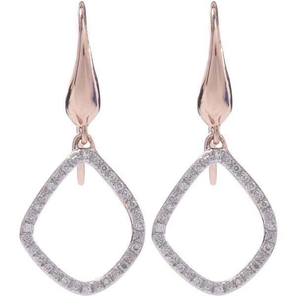 Rose Gold Riva Diamond Kite Earrings Diamond Monica Vinader 6RfQg