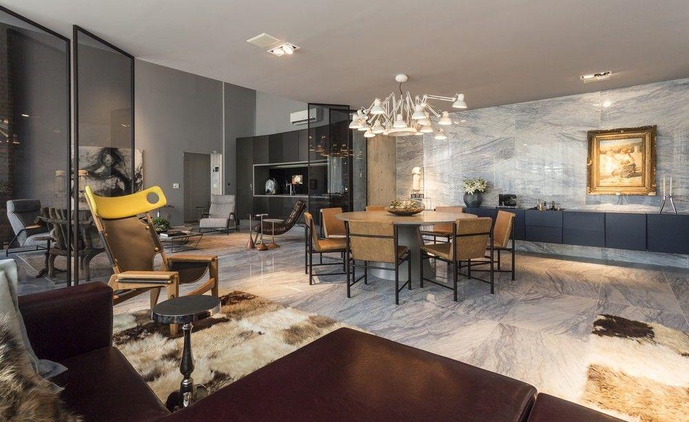 design modern loft----------Contemporary Apartment in Brazil RICH