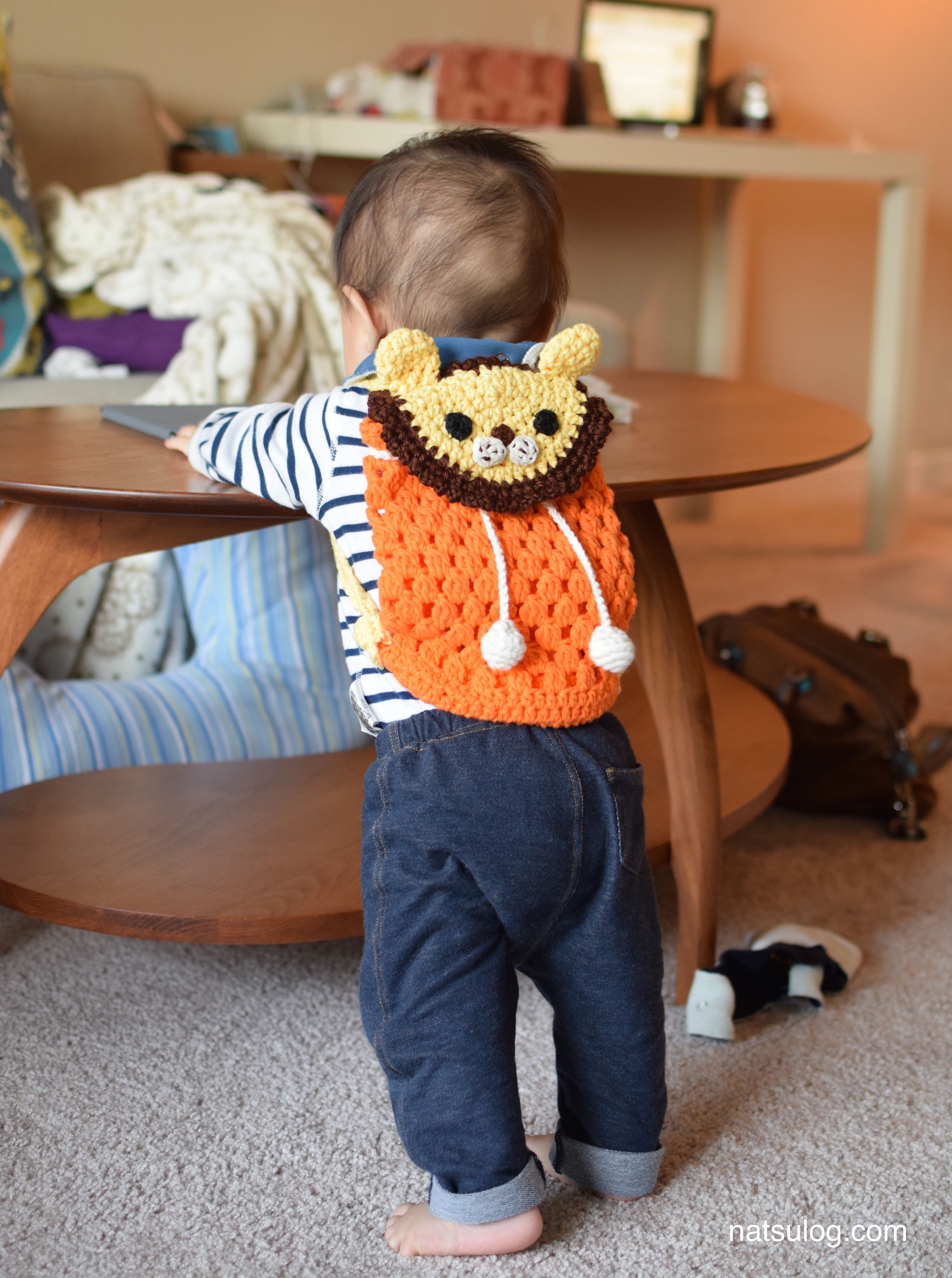 Crochet Lion Backpack for babies and kids - Crochet backpack pattern ...