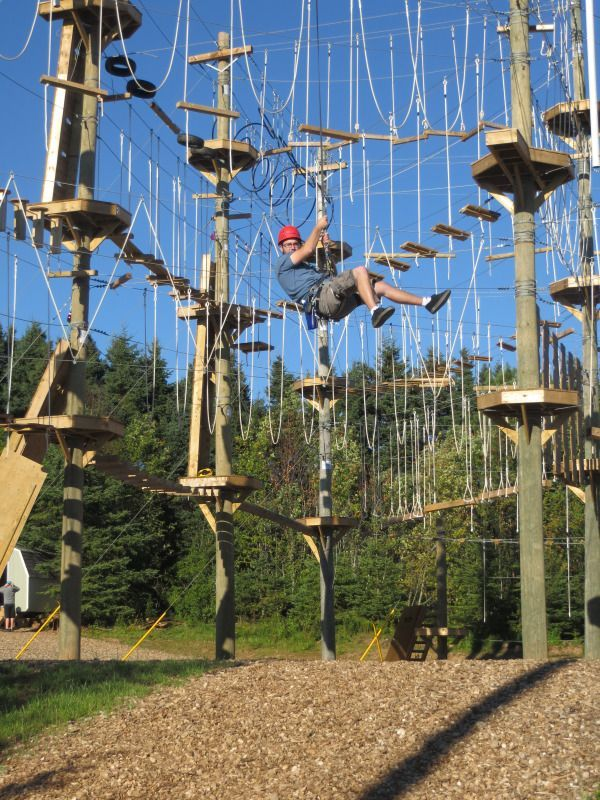Rise And Climb Adventure Course Is An Aerial Adventure Park Also Known As A High Ropes Course You Ll Backyard Adventure Adventure Park Outdoor Games For Kids