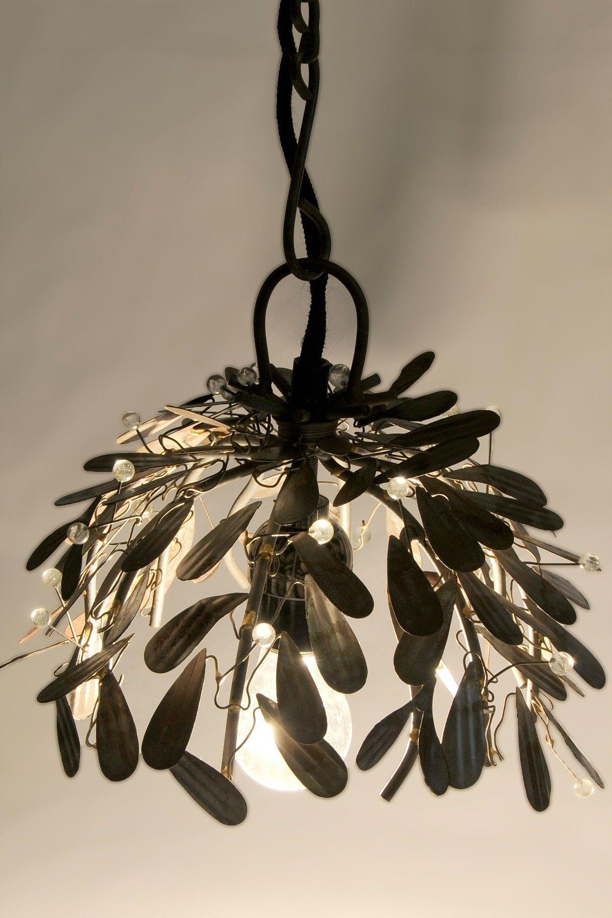 Vintage bazaar recycled raw metal leaf pendant light fixture fun vintage bazaar recycled raw metal leaf pendant light fixture arubaitofo Images