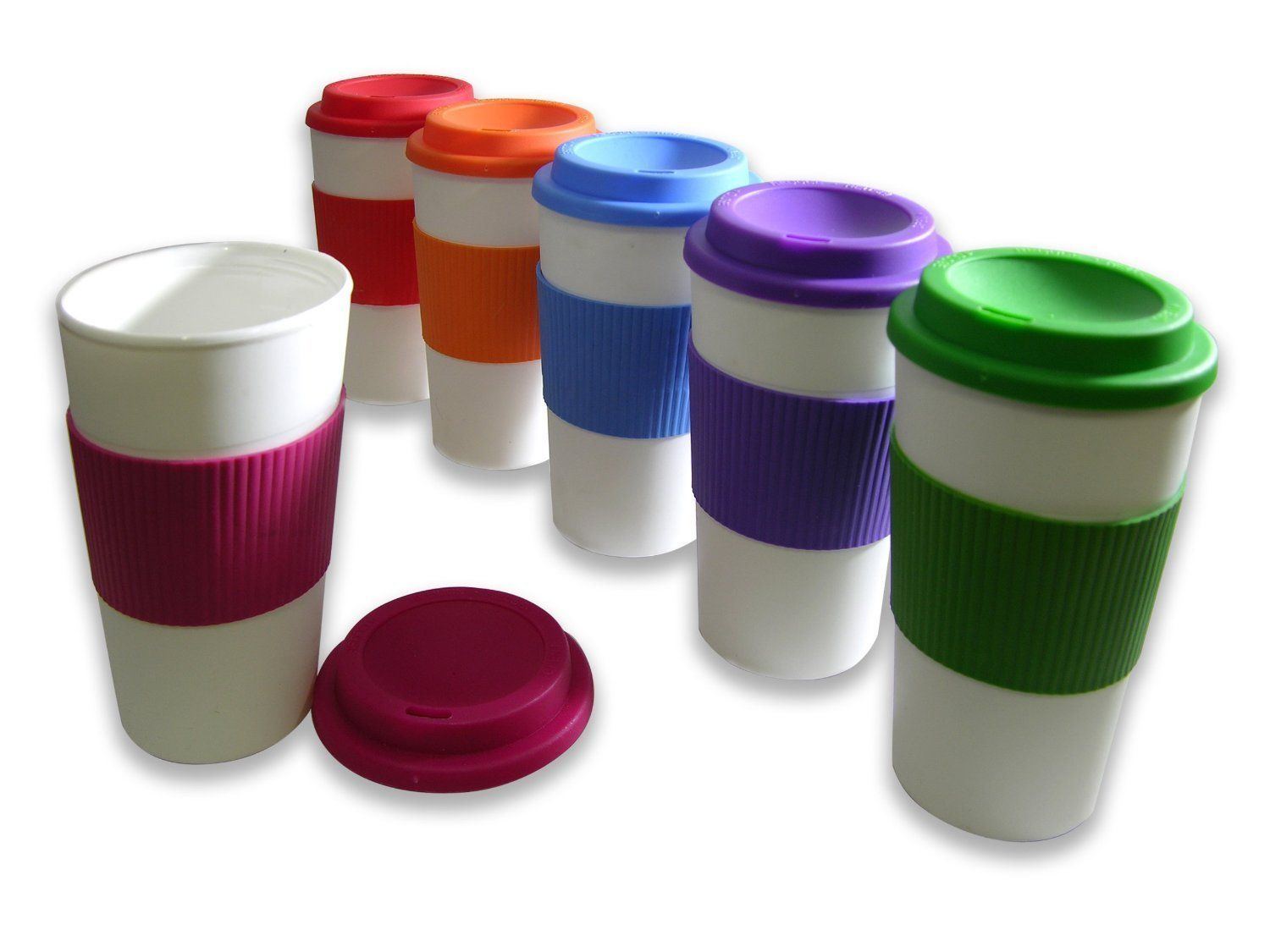 Scooped Out Rounded Lid Interior Travel Coffee Cup Mugs