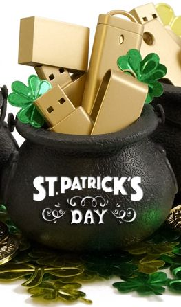 Golden Flash Drives from St. Patrick's Day
