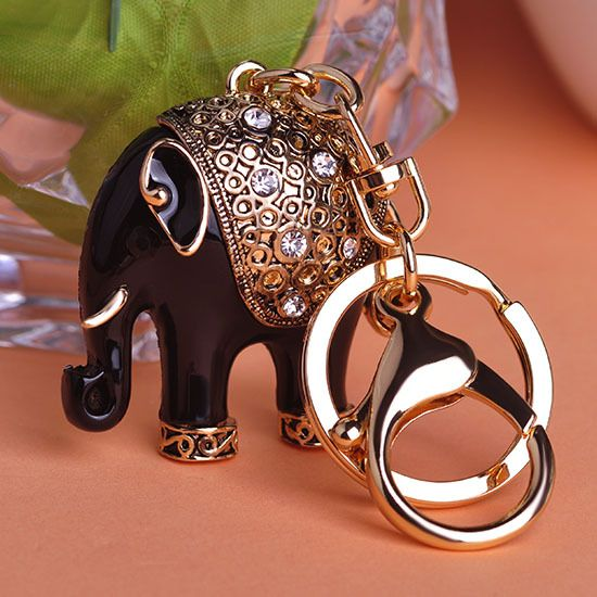 Enamel Esmaltes Kawaii Man Women Elephants Animal Key chains Key Bag Pendants chaveiros Colares Bijuterias Accessorios Atacado