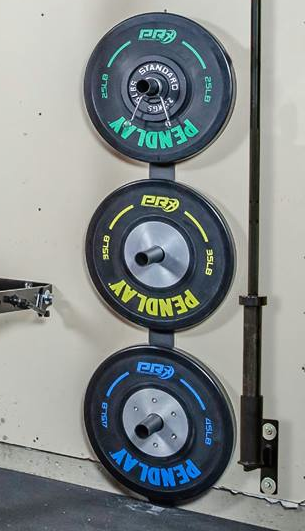Weight plate storage garage gym pinterest