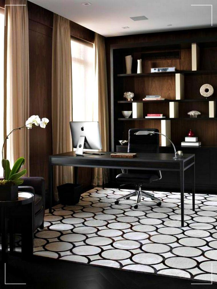 Oficina en casa – Diseños de oficinas masculinas y con aires dramáticos